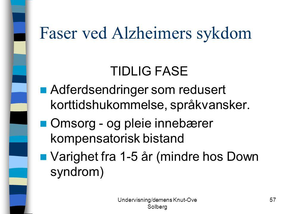 Faser ved Alzheimers sykdom