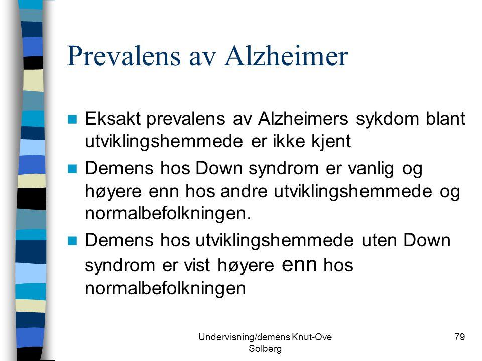 Prevalens av Alzheimer