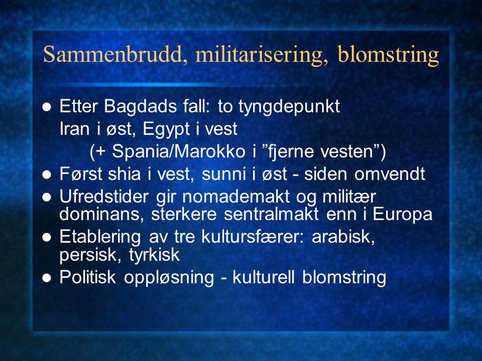 Sammenbrudd, militarisering, blomstring