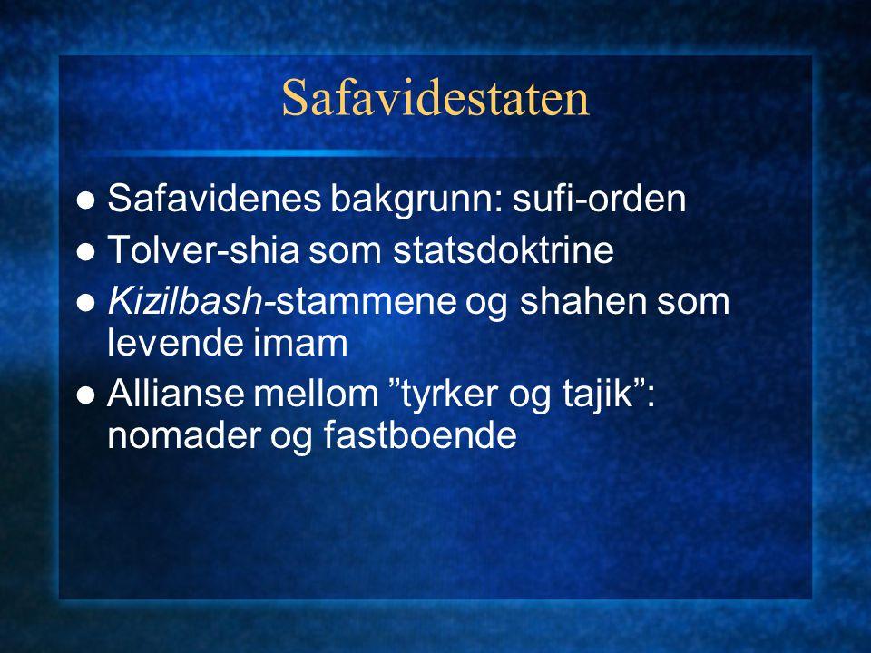 Safavidestaten Safavidenes bakgrunn: sufi-orden