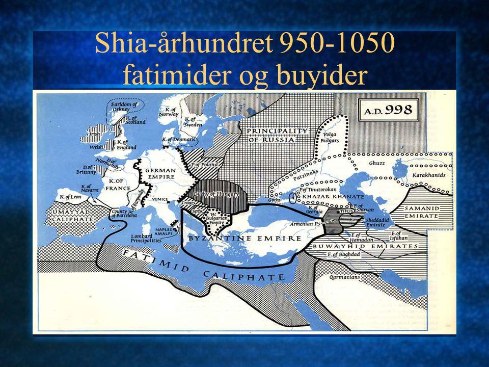 Shia-århundret 950-1050 fatimider og buyider