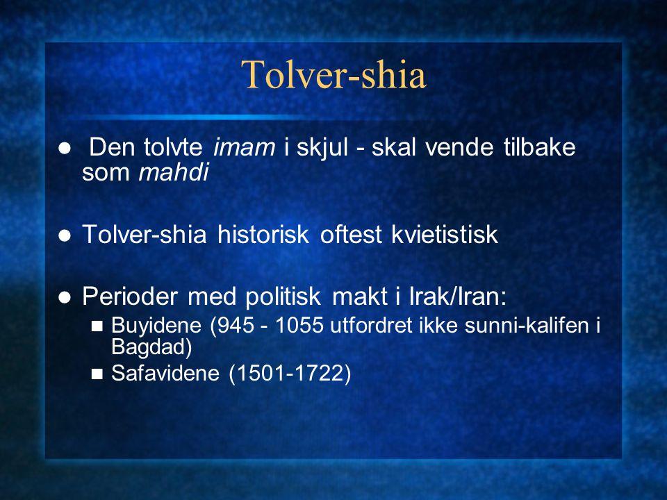 Tolver-shia Den tolvte imam i skjul - skal vende tilbake som mahdi