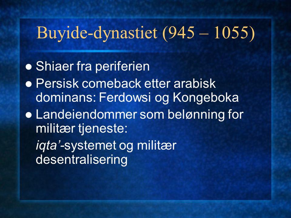 Buyide-dynastiet (945 – 1055) Shiaer fra periferien