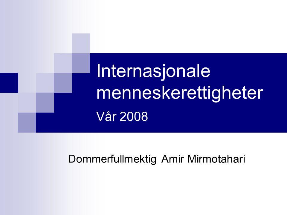 Internasjonale menneskerettigheter Vår 2008