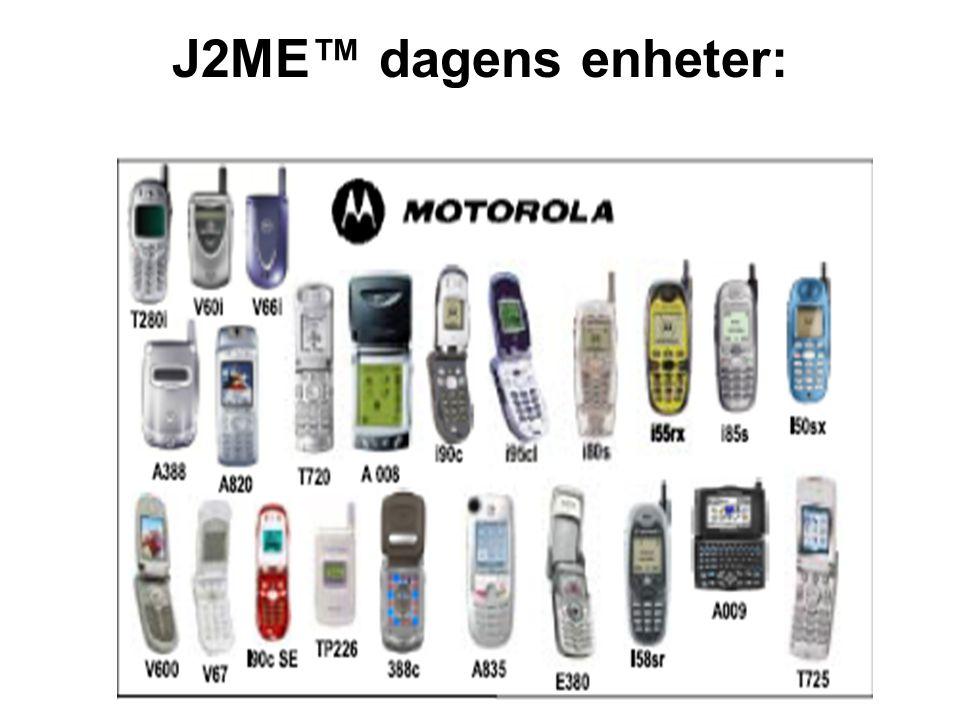 J2ME™ dagens enheter: