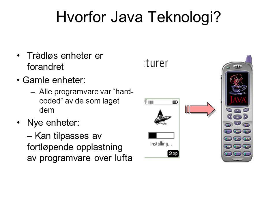 Hvorfor Java Teknologi