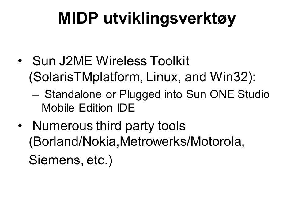 MIDP utviklingsverktøy