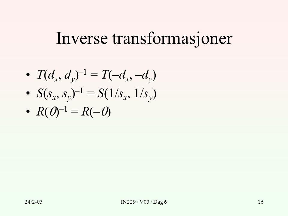 Inverse transformasjoner