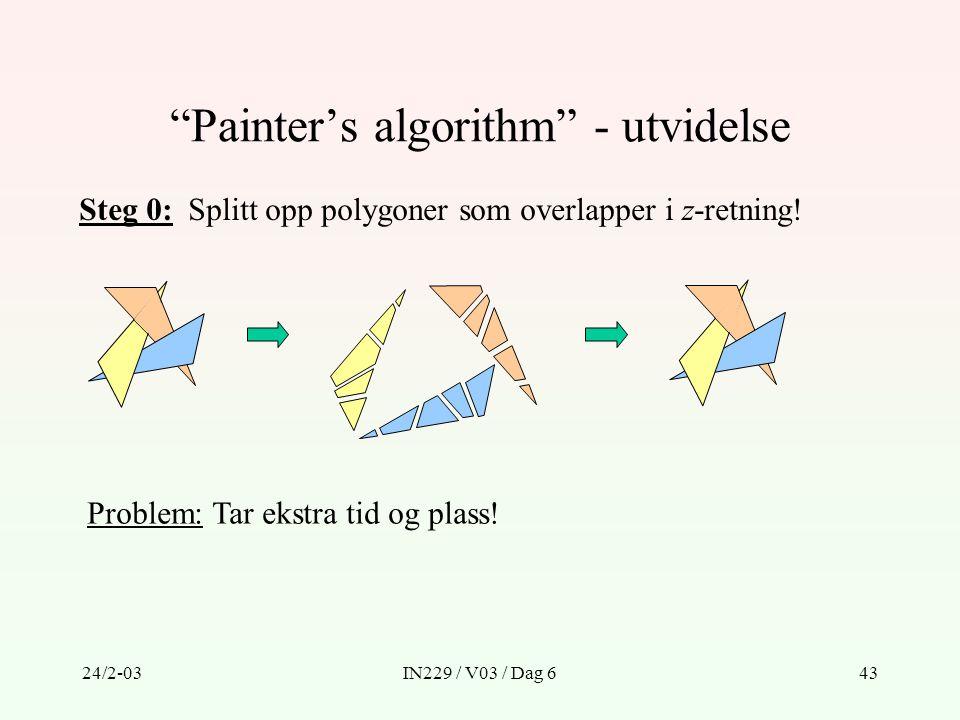 Painter's algorithm - utvidelse