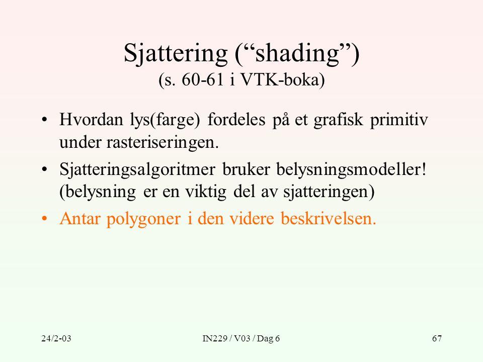 Sjattering ( shading ) (s. 60-61 i VTK-boka)