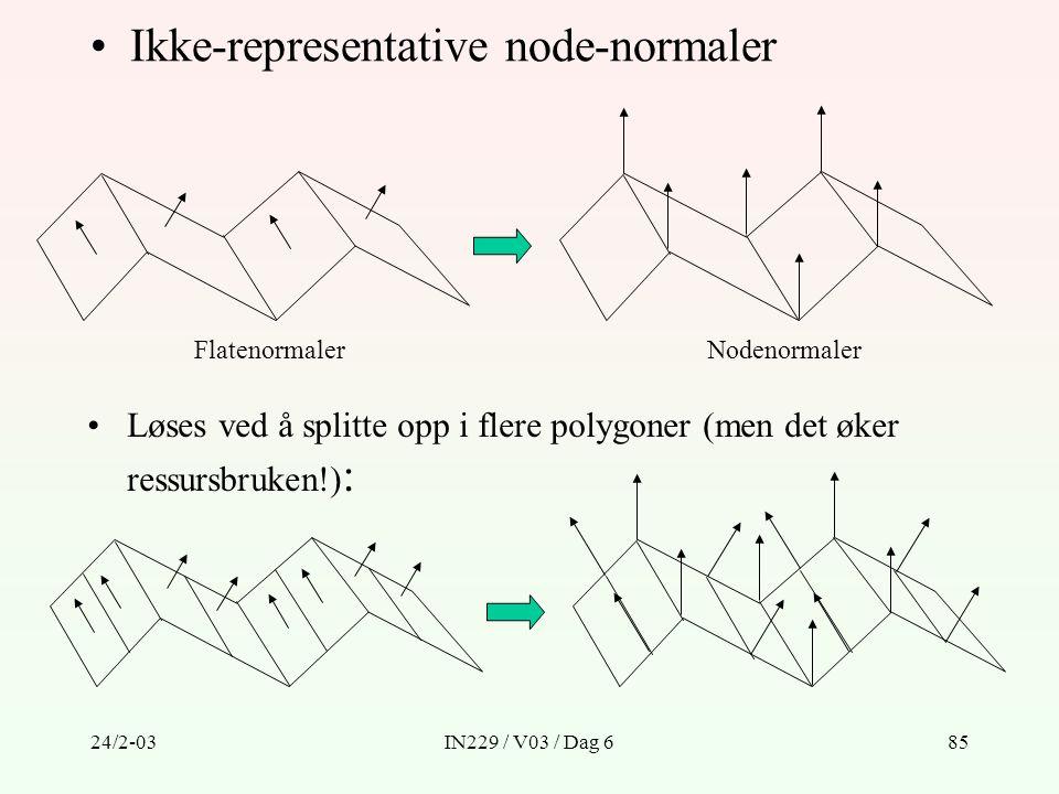 Ikke-representative node-normaler