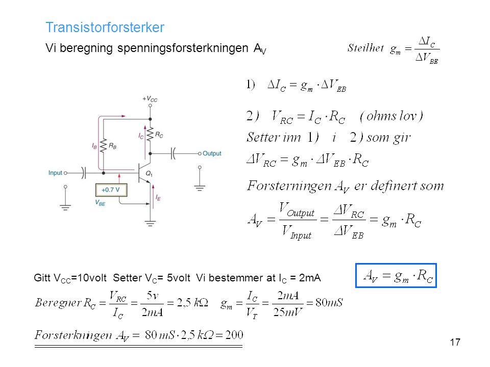 Transistorforsterker