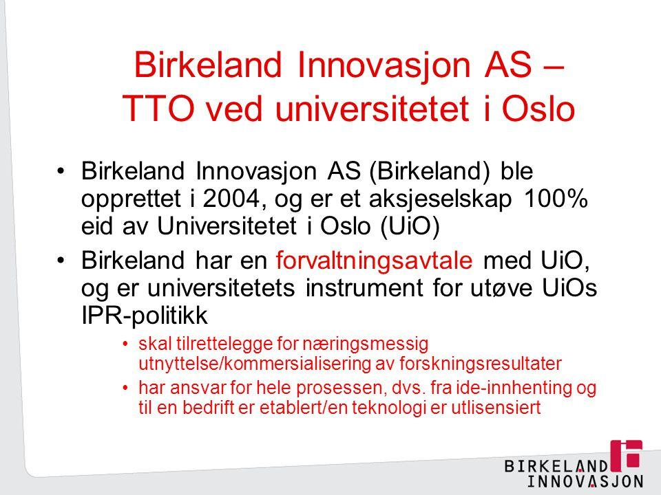 Birkeland Innovasjon AS – TTO ved universitetet i Oslo