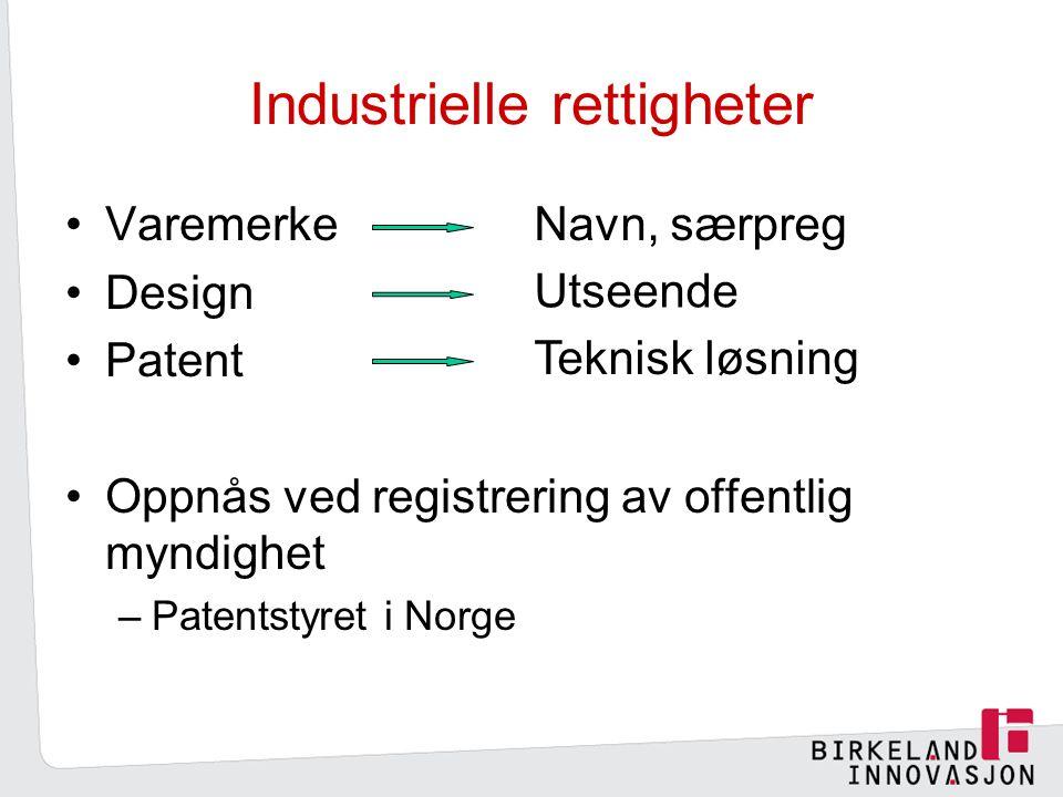 Industrielle rettigheter