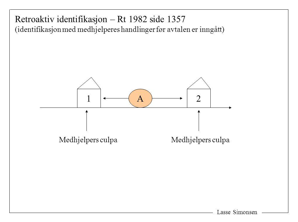 Retroaktiv identifikasjon – Rt 1982 side 1357