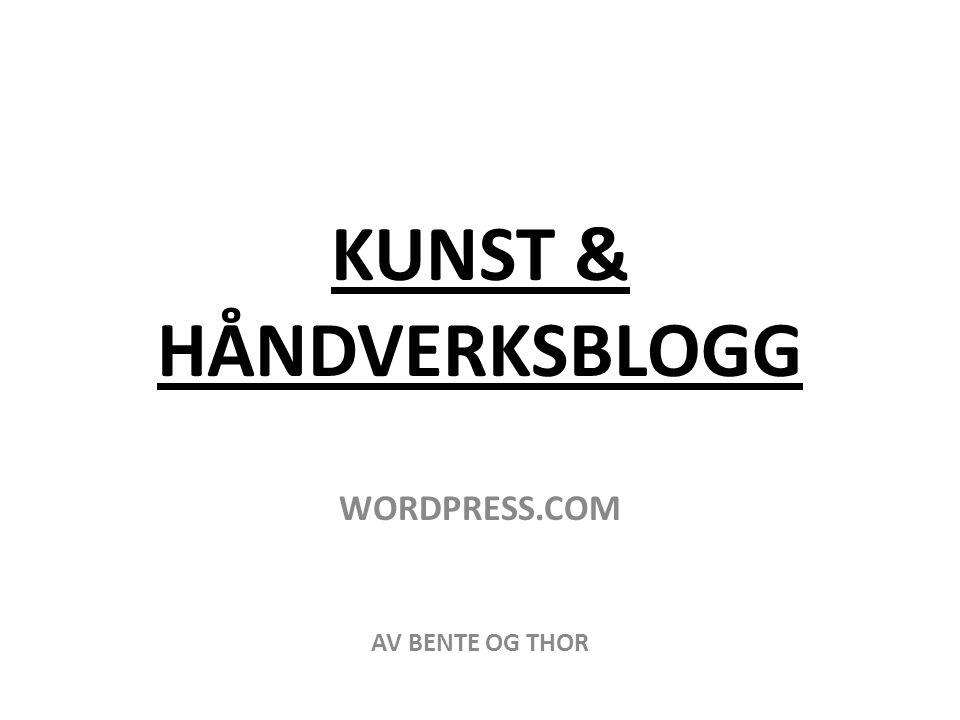 KUNST & HÅNDVERKSBLOGG