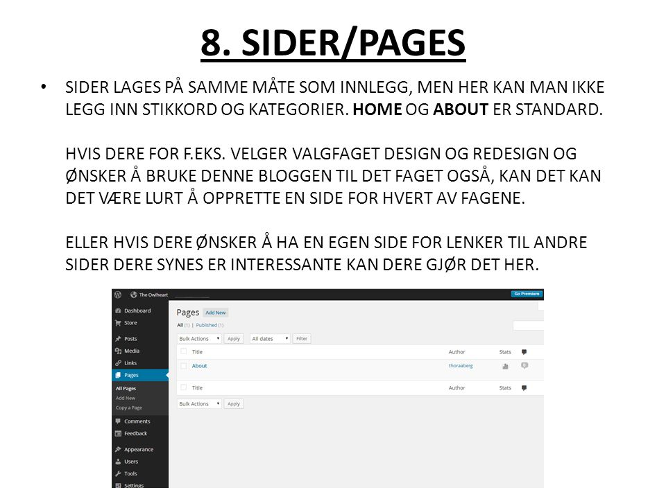 8. SIDER/PAGES