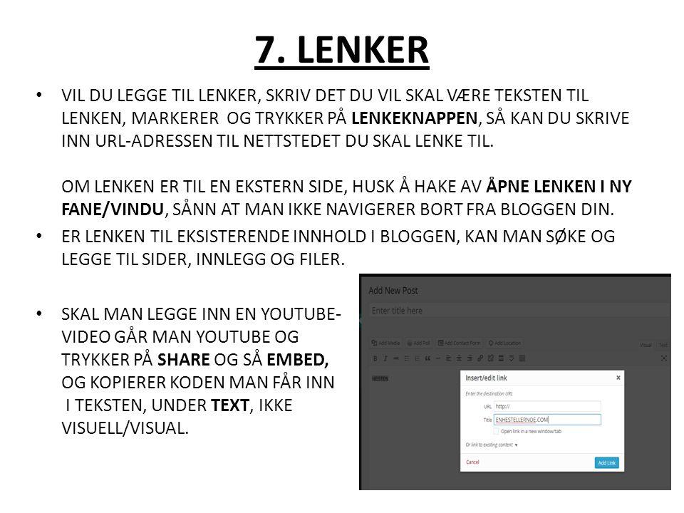 7. LENKER