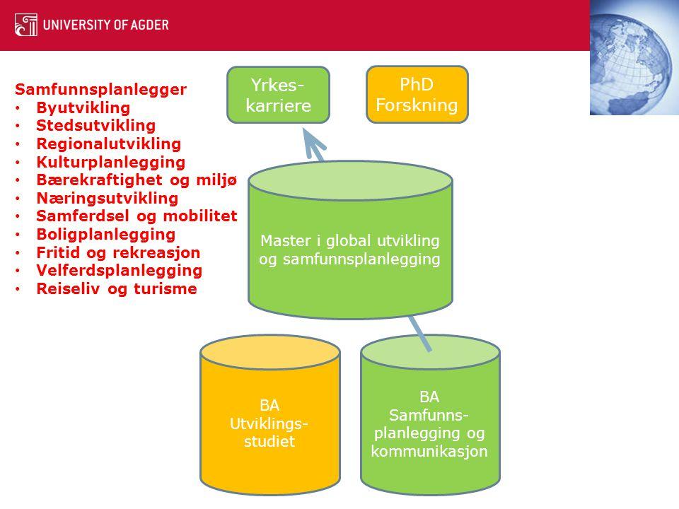Yrkes-karriere PhD Forskning Samfunnsplanlegger Byutvikling