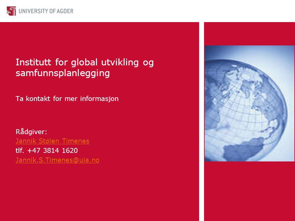 Institutt for global utvikling og samfunnsplanlegging