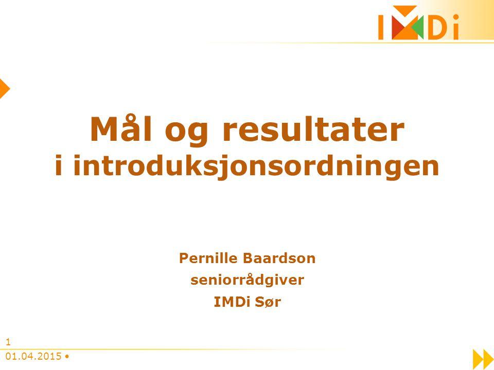 i introduksjonsordningen Pernille Baardson seniorrådgiver IMDi Sør