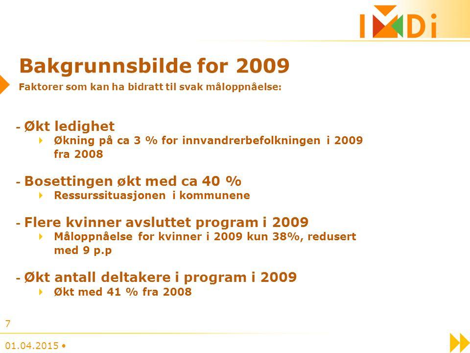 Bakgrunnsbilde for 2009 Faktorer som kan ha bidratt til svak måloppnåelse: