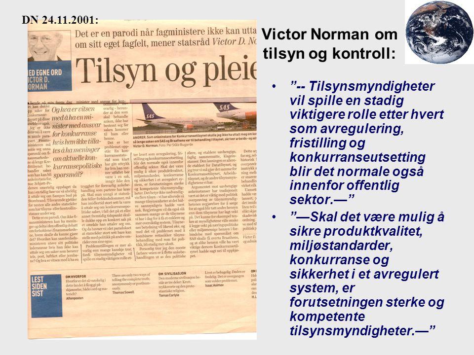 Victor Norman om tilsyn og kontroll: