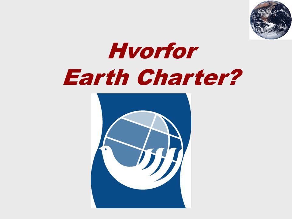 Hvorfor Earth Charter