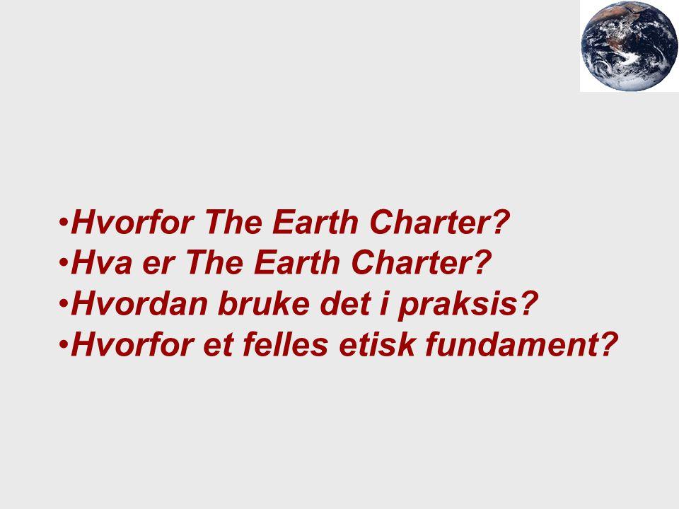 Hvorfor The Earth Charter
