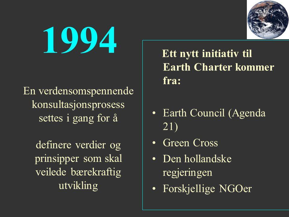 1994 Earth Council (Agenda 21)