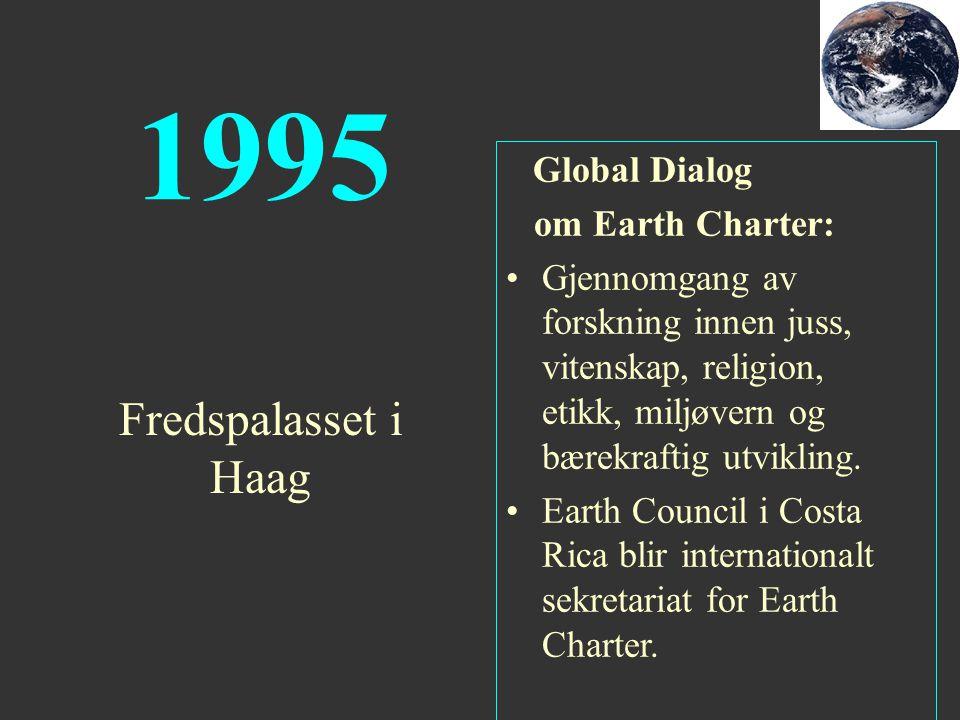 1995 Fredspalasset i Haag om Earth Charter: