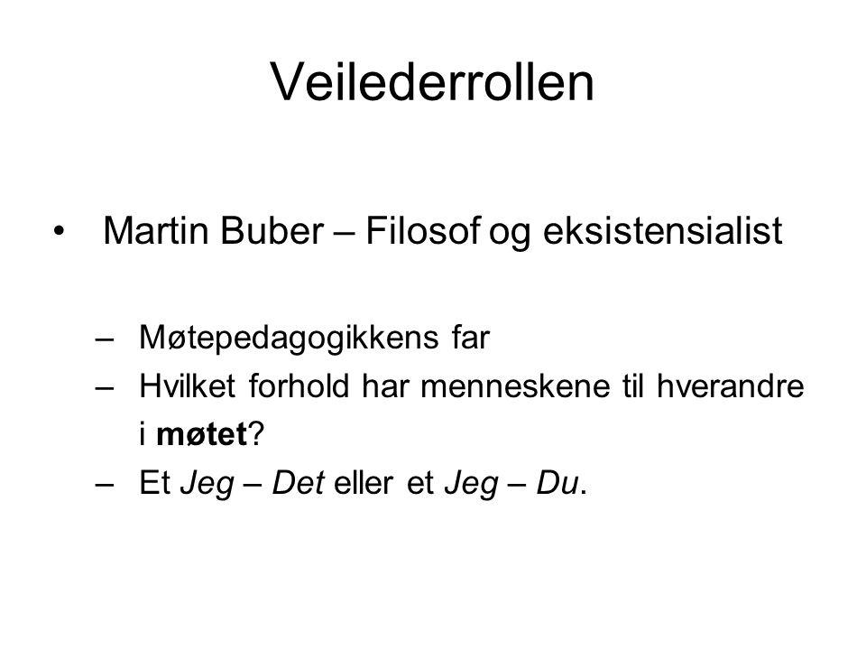 Veilederrollen Martin Buber – Filosof og eksistensialist