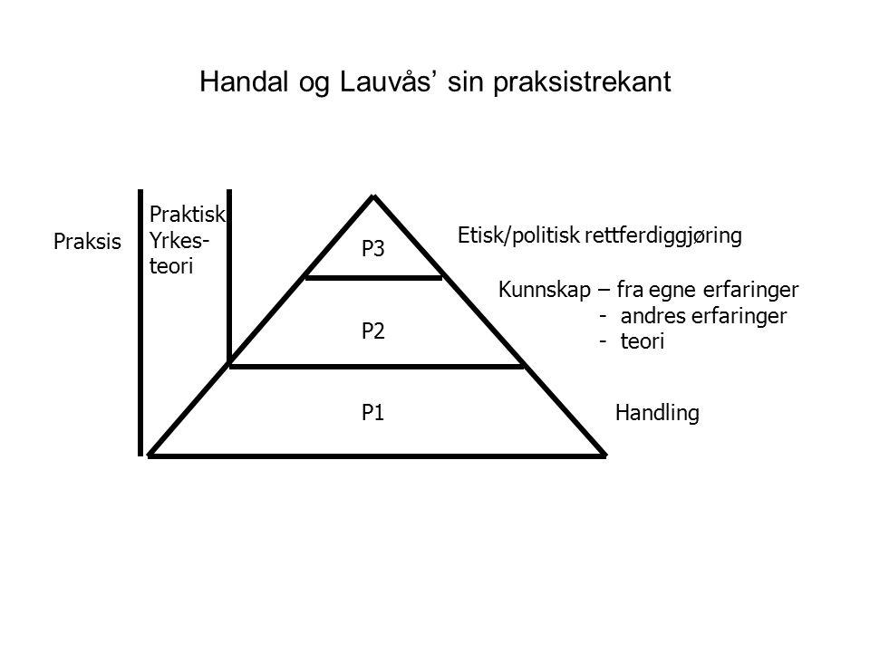 Handal og Lauvås' sin praksistrekant