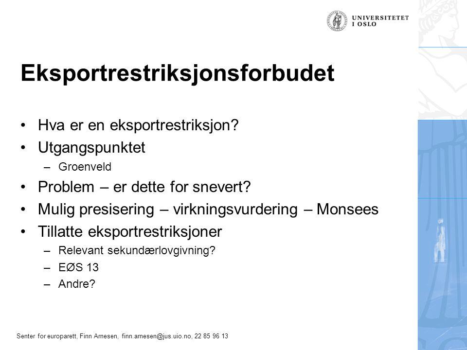 Eksportrestriksjonsforbudet