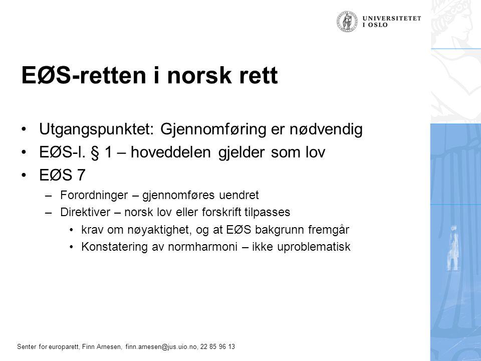 EØS-retten i norsk rett