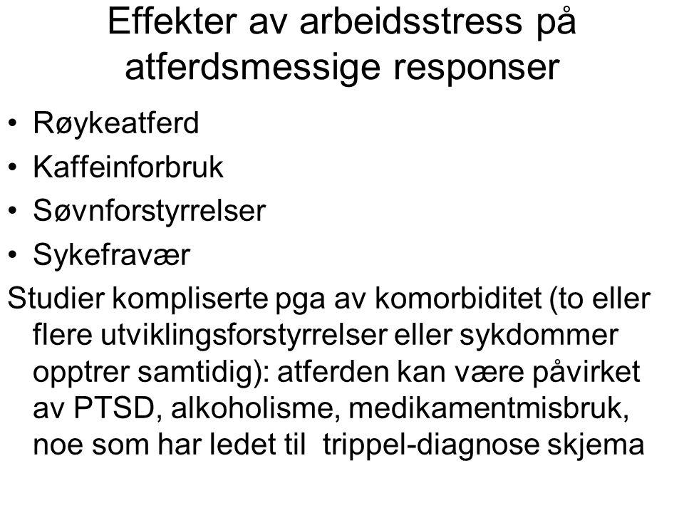 Effekter av arbeidsstress på atferdsmessige responser