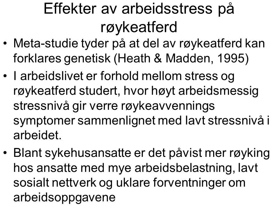 Effekter av arbeidsstress på røykeatferd