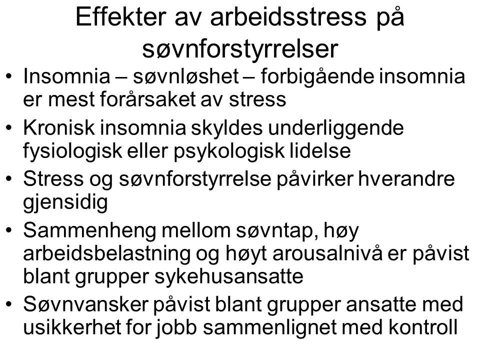 Effekter av arbeidsstress på søvnforstyrrelser