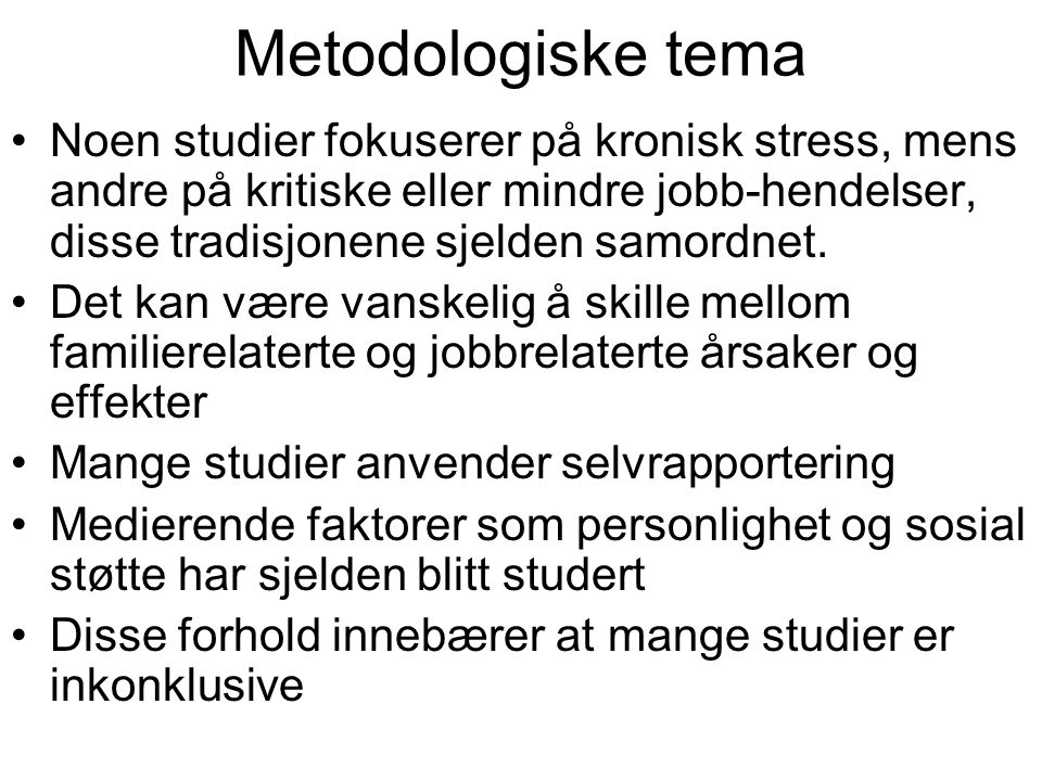 Metodologiske tema