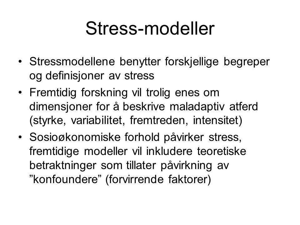 Stress-modeller Stressmodellene benytter forskjellige begreper og definisjoner av stress.