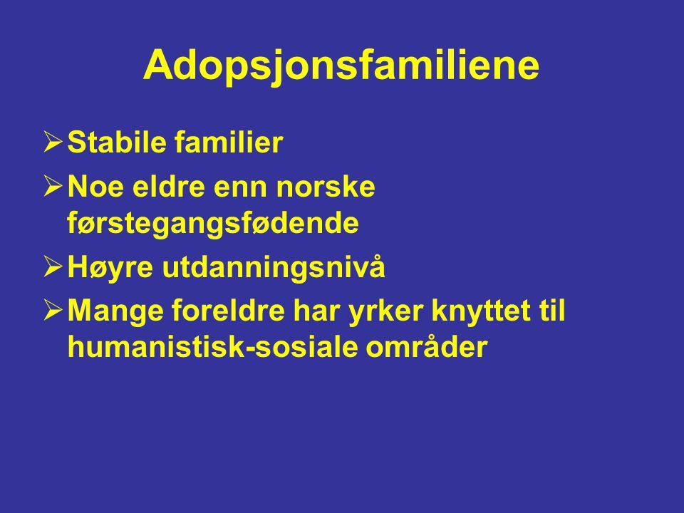 Adopsjonsfamiliene Stabile familier