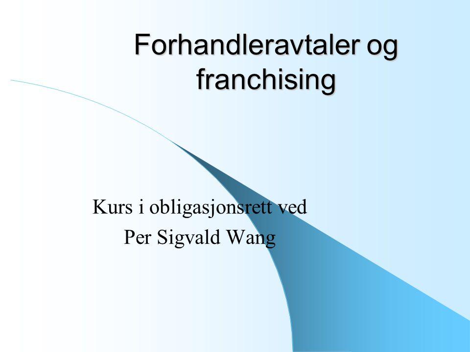 Forhandleravtaler og franchising