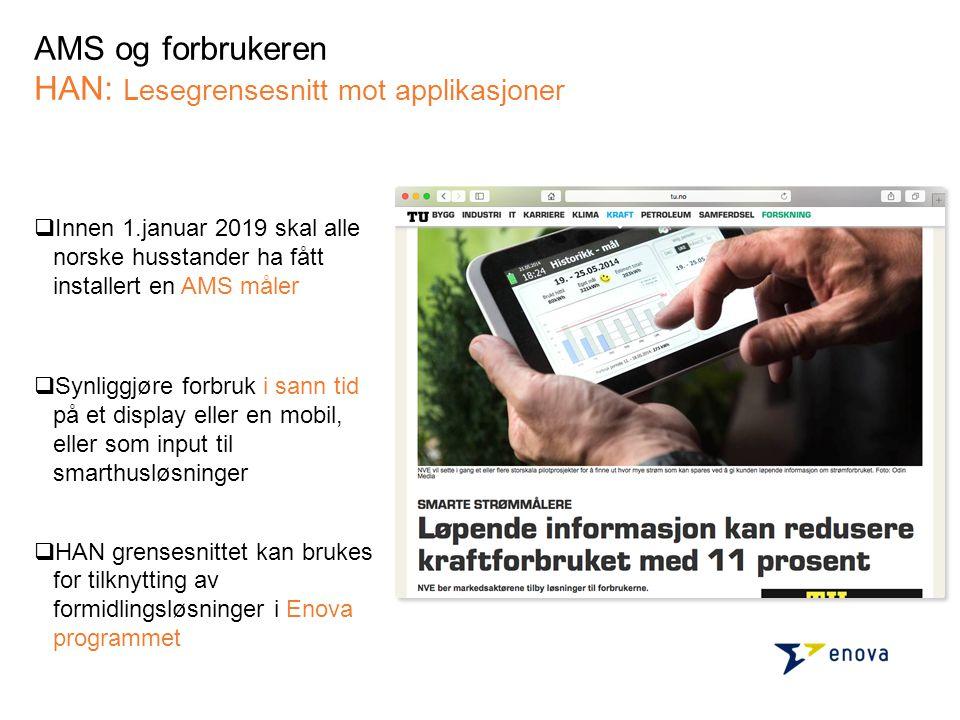 AMS og forbrukeren HAN: Lesegrensesnitt mot applikasjoner