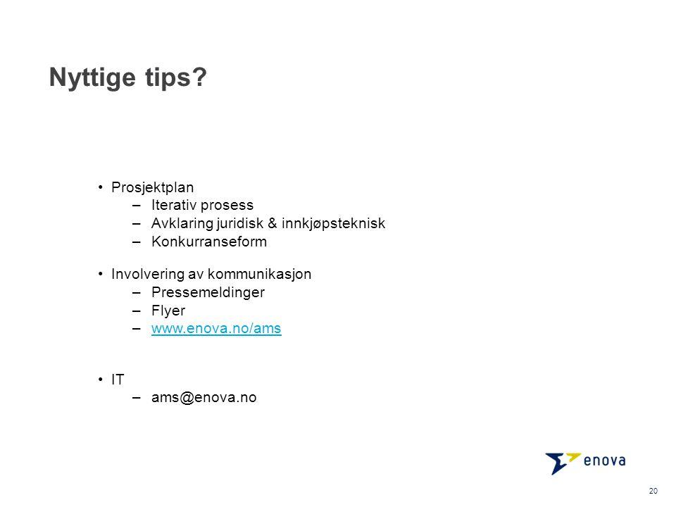 Nyttige tips Prosjektplan Iterativ prosess