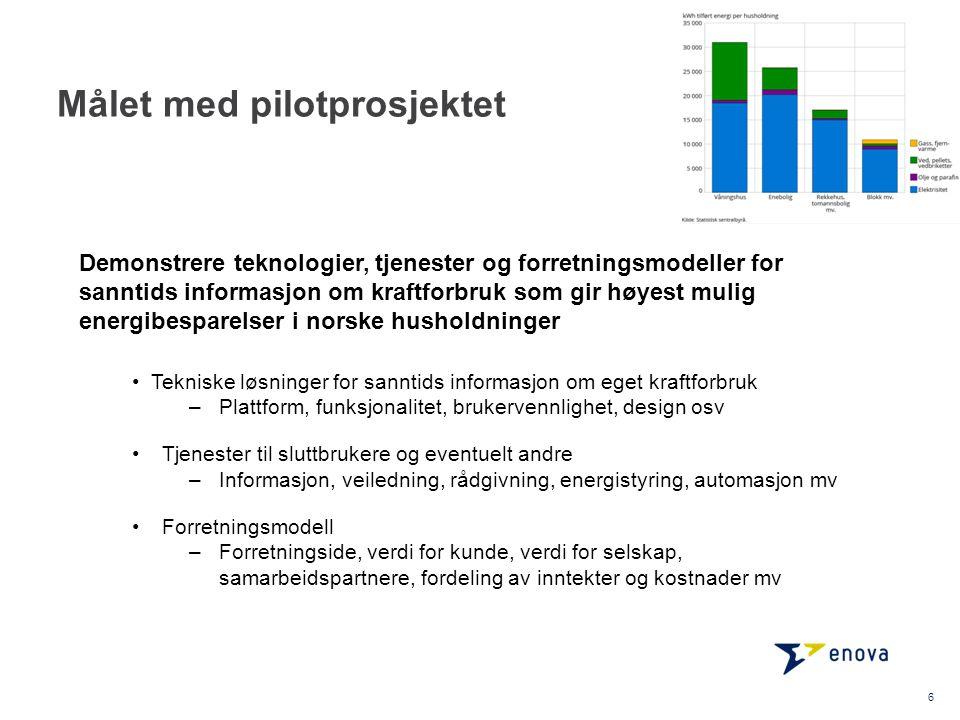 Målet med pilotprosjektet