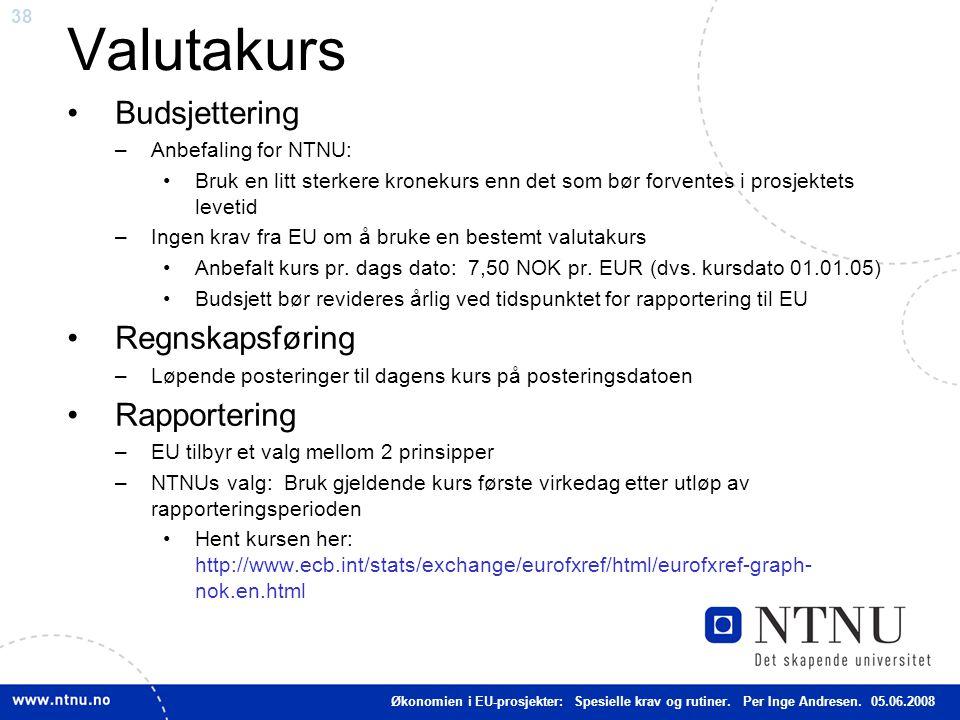 Valutakurs Budsjettering Regnskapsføring Rapportering