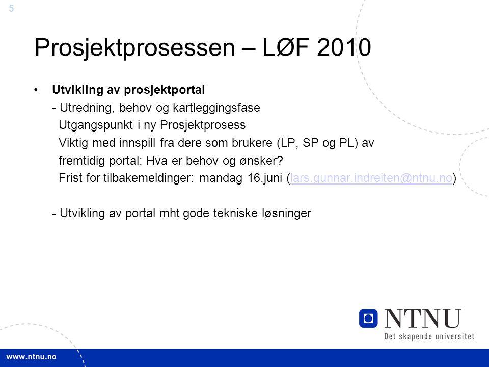 Prosjektprosessen – LØF 2010
