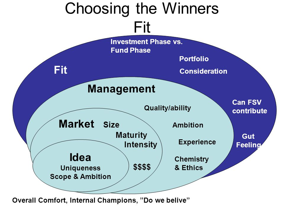 Choosing the Winners Fit