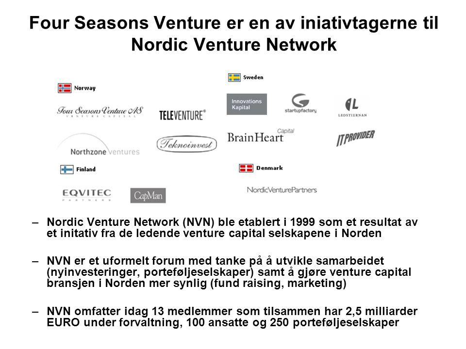 Four Seasons Venture er en av iniativtagerne til Nordic Venture Network