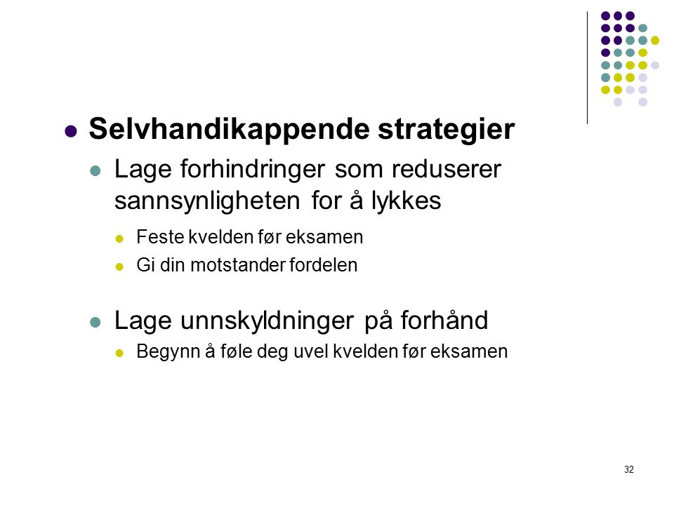 Selvhandikappende strategier